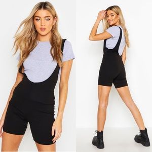 Pants - Grey crop top w/ Short overalls